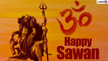 Happy Sawan 2021 Wishes & Lord Shiva HD Images for Free Download: WhatsApp Messages, SMS, Quotes, GIF Greetings for Shravan Month