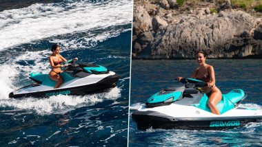 Cristiano Ronaldo's Girlfriend Gerogina Rodriguez Displays Her Jet-Skiing Skills in Hot Nude Two-Piece; See Latest Photos