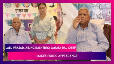 Lalu Prasad, Ailing Rashtriya Janata Dal Chief, Makes Public Appearance, Says 'My Regime Was Not Jungle Raj'