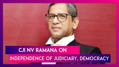 NV Ramana, CJI Speaks Of 'Rule of Law', 'Independence of Judiciary', And Cautions Against Media Trials