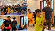 Aamir Khan, Kiran Rao, Son Azad, Naga Chaitanya Indulge in Table Tennis Match With Laal Singh Chaddha Team (View Viral Pics)