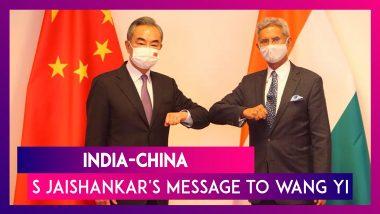 India-China: EAM S Jaishankar's Message To Chinese Counterpart Wang Yi At SCO