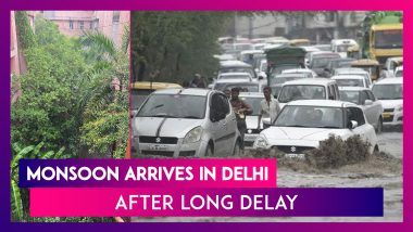 Delhi: After Endless Wait, Monsoon Showers Arrive In National Capital; Several Areas Witness Waterlogging, Traffic Jams