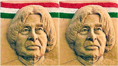 APJ Abdul Kalam 6th Death Anniversary: Remembering People's President of India With This Incredible Sand Art by Sudarsan Pattnaik
