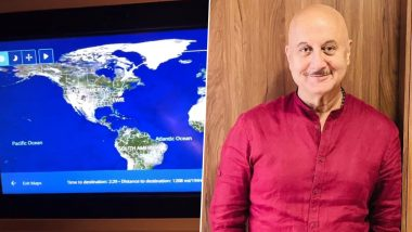 Anupam Kher Announces His 519th Film While Flying Above the Atlantic Ocean, Says 'Full Details Coming Soon' (Watch Video)