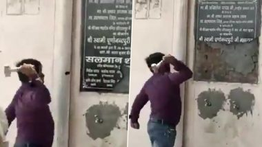 Bajrang Dal Leader Held for Destroying Foundation Stone Bearing Muslim Name in Aligarh Temple