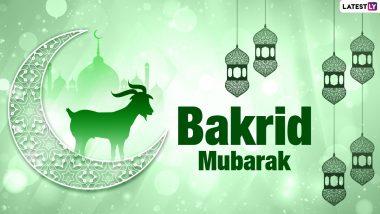 Eid al-Adha Mubarak 2021 Hindi Greetings and Messages: Bakrid Mubarak SMS, HD Images, WhatsApp Stickers and Wallpapers toSend on Bakra Eid