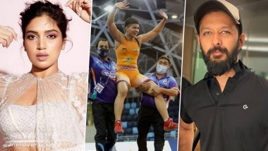 Priya Malik Wins Gold Medal in World Cadet Wrestling Championship 2021 in Budapest, Bhumi Pednekar and Vatsal Sheth Confuses the Feat With Tokyo Oympics Win