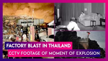 Thailand: Foam Factory Explosion Blows Up Homes in Bangkok, Watch CCTV Footage Of The Moment of Blast From Inside An Apartment