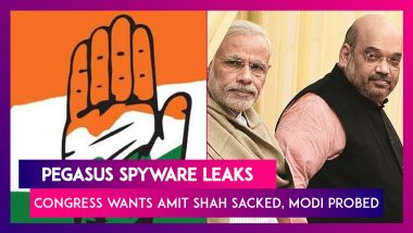 Pegasus Spyware Leaks: Congress Demands Sacking Of Home Minister Amit Shah, Probe Against PM Modi
