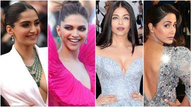 Cannes Throwback: Deepika Padukone, Sonam Kapoor, Aishwarya Rai Bachchan and Other Indian Actresses Shining Bright on Film Festival Red Carpet