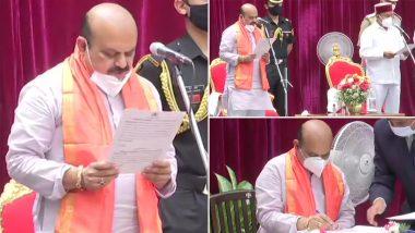 Basavaraj Bommai Takes Oath as Chief Minister of Karnataka, Replaces BS Yediyurappa