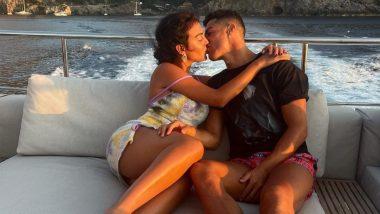Hot Kiss Alert! Cristiano Ronaldo and Georgina Rodriguez Enjoy Steamy Makeout Session Holidaying on Luxury Yacht (View Pics & Video)