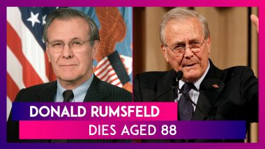 Donald Rumsfeld, US Secretary Of Defense During Afghan And Iraq Invasion, Dies Aged 88