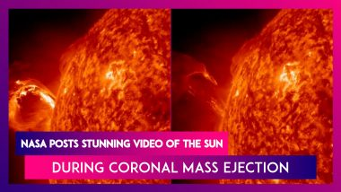 NASA Posts Stunning Video Of The Sun During Coronal Mass Ejection