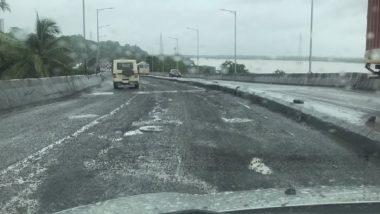Maharashtra Rains: Bridge on Vaitarna River Washed Away Due to Heavy Rains, Mumbra Bypass Road Damaged in Thane