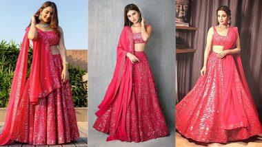 Disha Parmar vs Tara Sutaria vs Dia Mirza in Fashion Faceoff! Pick Your Favourite Actress in Pink Mirrorwork Lehenga
