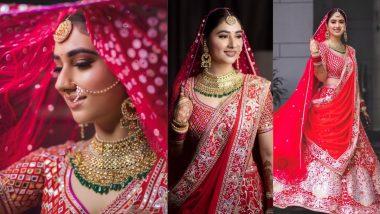 Disha Parmar Shares Lovely Pics As the Quintessential Indian Bride in Abu Jani Sandeep Khosla Wedding Lehenga