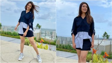 Divyanka Tripathi Looks Effortlessly Cool in Shirt, Shorts and Sneakers (View Photos)