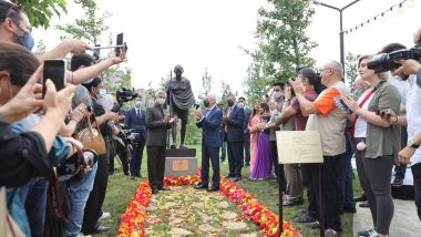 External Affairs Minister S Jaishankar Unveils Statue of Mahatma Gandhi in Georgia