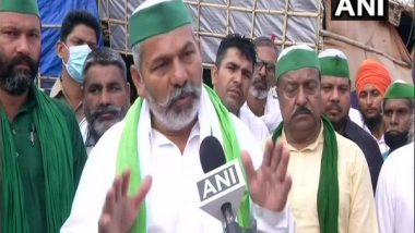India News | Farmers' Protest: BKU Leader Rakesh Tikait Leaves for Singhu Border