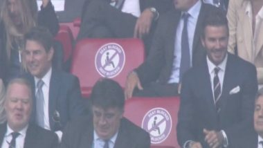 Euro 2020 Final: David Beckham, Tom Cruise Marked Their Attendance at Wembley Stadium During England vs Italy Final
