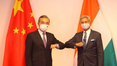 EAM S Jaishankar Meets Chinese Foreign Minister Wang Yi in Dushanbe, Says 'Unilateral Change of Status Quo Not Acceptable to India'
