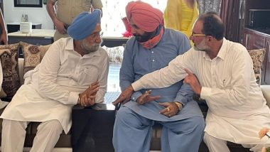 Punjab Congress Feud: Navjot Singh Sidhu Reaches Residence of MLA Madanlal With Six Party MLAs in Patiala