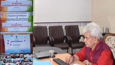 Jammu and Kashmir: LG Manoj Sinha Inaugurates 44 Digital Village Centres, Says New Era of Development Started in UT