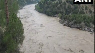India News | J-K: Chenab River Water Level Rises Due to Heavy Rainfall