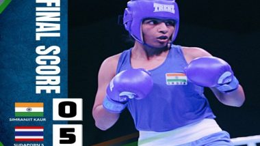 Sports News   Tokyo Olympics: Boxer Simranjit Kaur Bows Out, Loses 0-5 to Sudaporn Seesondee