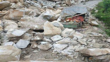 India News | Chandigarh-Manali Highway Closed Due to Landslide, Restoration Work Underway