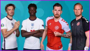 England vs Denmark, UEFA Euro 2020 Semi-Final Live Streaming Online & Match Time in IST: How to Get Live Telecast of ENG vs DEN on TV & Free Football Score Updates in India