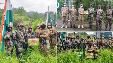 Eid-al-Adha 2021 Celebrations: India, Pakistan Armies Share Sweets Along LoC in Jammu and Kashmir To Celebrate the Festival (See Pics)