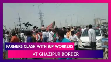 Farmers Clash With BJP Workers At Ghazipur Border Near Delhi