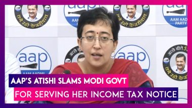 Atishi, AAP Leader Accuses Modi Govt Of Harassment After She Is Served Income Tax Notice