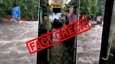 Rainwater Entered Into DTC Bus in Delhi? Old Video of Rainwater Gushing inside Jaipur Bus Is Being Shared With False Claims; Here Is The Truth