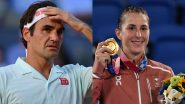 Roger Federer Reacts After Belinda Bencic, Swiss Women's Tennis Player, Wins Singles Gold Medal at Tokyo Olympics 2020