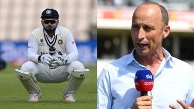 Nasser Hussain Gives His Verdict on Rishabh Pant's Test Batting Position, Says, It 'Is One Place Too High' Ahead of England vs India Tests
