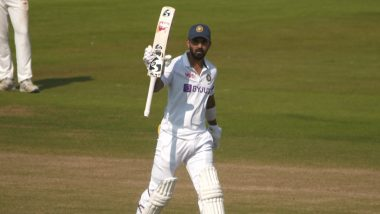 India vs County Select XI: KL Rahul Scores Scores Hundred Against County Side in Warm-Up Match, Watch Video
