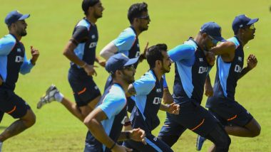 Team India Sweats It Out in the Nets Ahead of IND vs SL, 1st ODI 2021 (Watch Video)