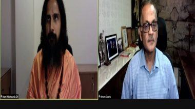 India News | Spiritual Leader Advaitananda Giri Leads Meditation Session, Explains Benefits of Ancient Practice