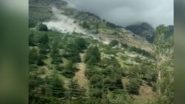 Himachal Pradesh Landslide: Moving Car Hit by Boulders Rolling Down a Mountain on Batseri-Sangla Road, No Injuries Reported So Far (Watch Video)