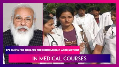 All India Quota Scheme: 27% Reservation For OBCs, 10% For Economically Weaker Sections In Medical Courses