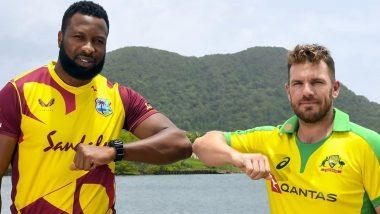 West Indies vs Australia Live Cricket Streaming Online of 1st T20I 2021: Get Telecast Details of WI vs AUS