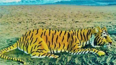 On International Tiger Day 2021, Sand Artist Sudarsan Pattnaik Shares Magnificent Art Work To Raise Awareness About Tiger Conservation