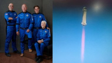 Jeff Bezos, Brother Mark, Wally Funk and 18-Year-Old Physics Student Oliver Daemen Take Off to Space in Blue Origin's New Shepard Rocket