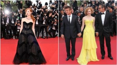 Jessica Chastain Looks Smoking Hot in Strapless Black Dior Gown at Cannes 2021, Also Tweets Photo of Her Debut Look From the Film Festival