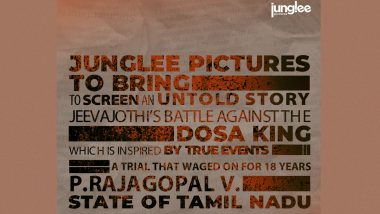 Junglee Pictures Announces A Film On Jeevajothi Santhakumar's Battle Against Dosa King P Rajagopal