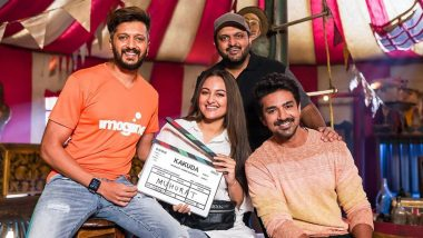 Kakuda: Sonakshi Sinha Shares a Glimpse From Sets of Riteish Deshmukh Starrer Horror-Comedy (See Pic)